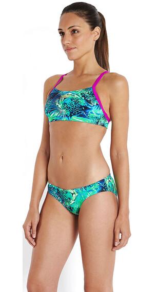 speedo Endurance+ Junglewave Allover Bikini Kobiety zielony/niebieski